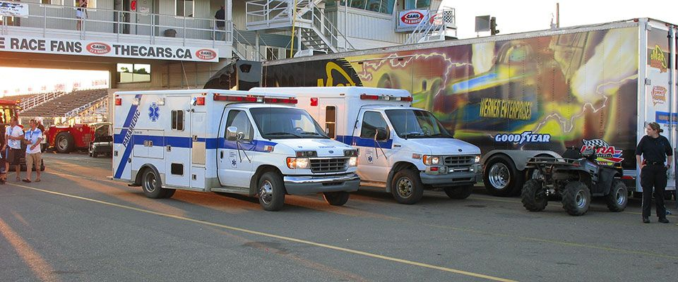 Two ambulances working an event